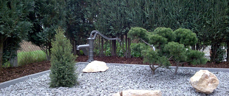 kleine Steingartenanlage